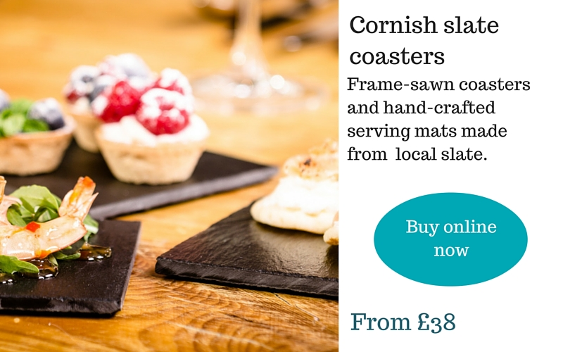 Delabole Cornish slate table mats