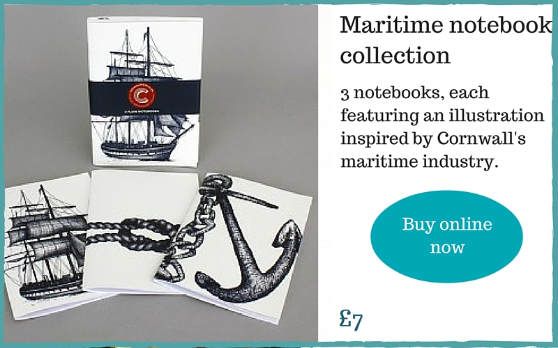 maritime notebooks Cornwall