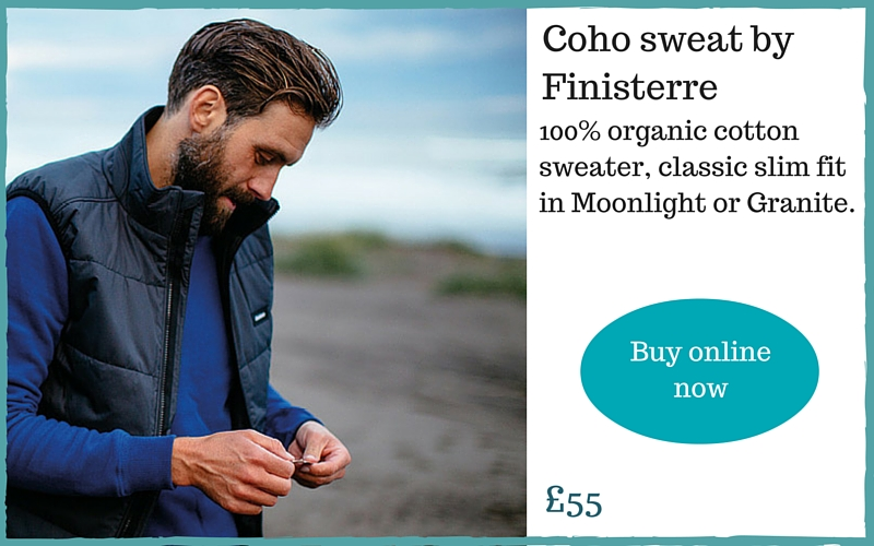 Finisterre men's clothing made in Cornwall