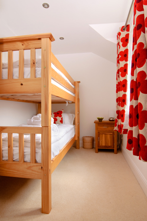 Bunk beds in Pentire apartment