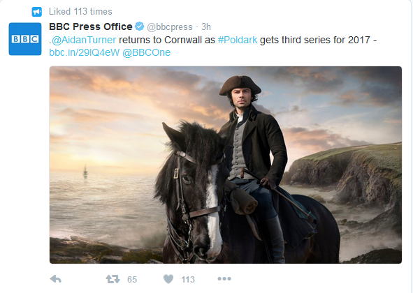 Poldark returns for third series