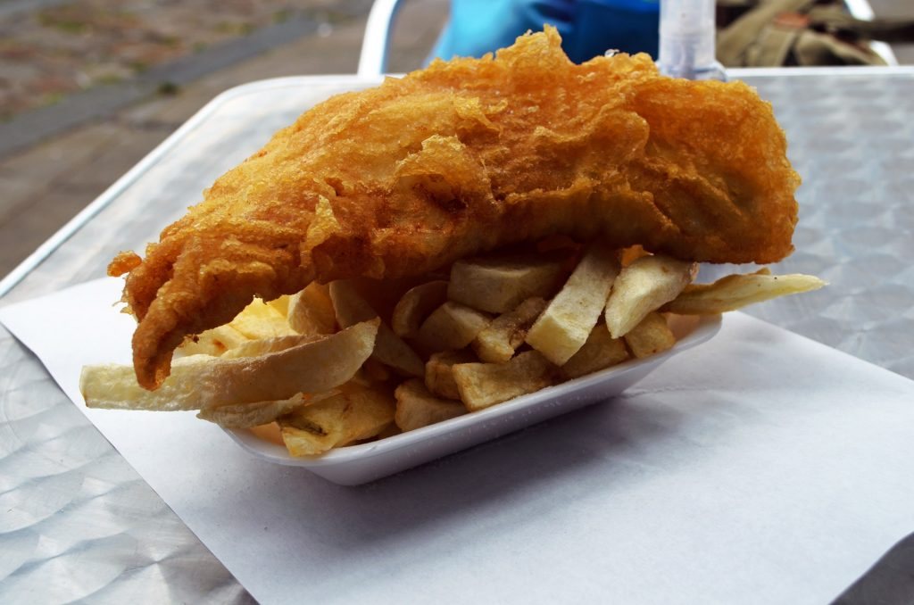 traditional Cornish fish and chips