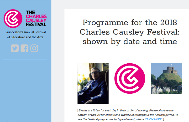 charles causley festival 2018