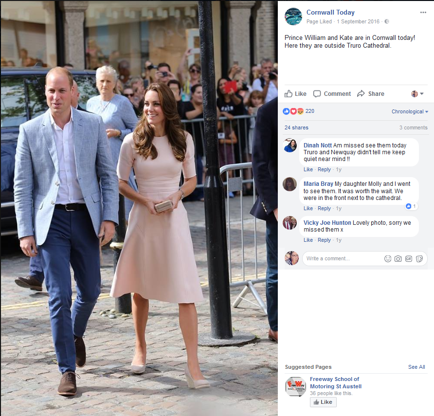 Prince William & Kate sign slate at Truro Cathedral