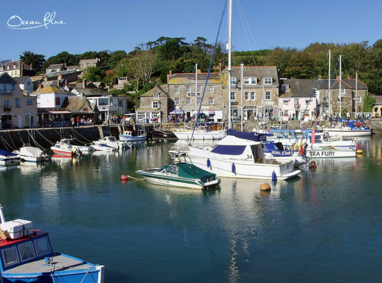 Padstow harbour in the sunshine