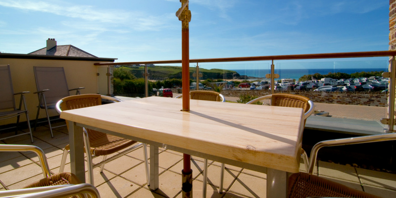 porthcothan patio sea view