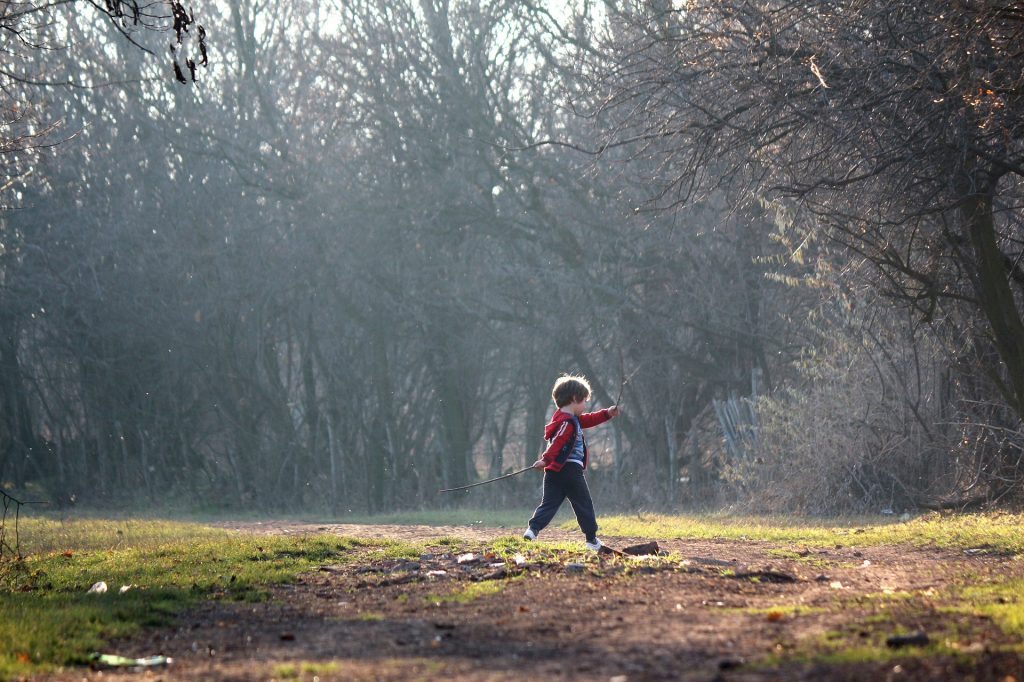 february half term child walking in cornwall