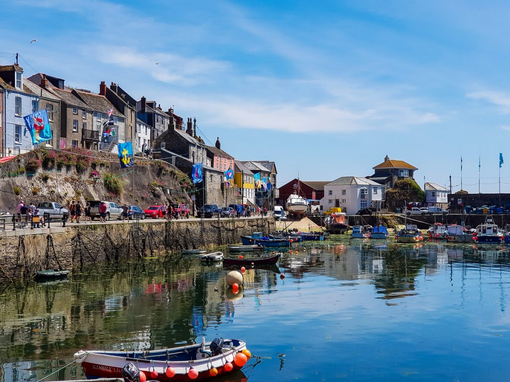 Mevagissey harbour Cornwall