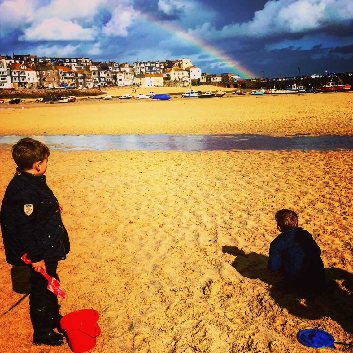 Rainbow over St Ives by KJ Duffield