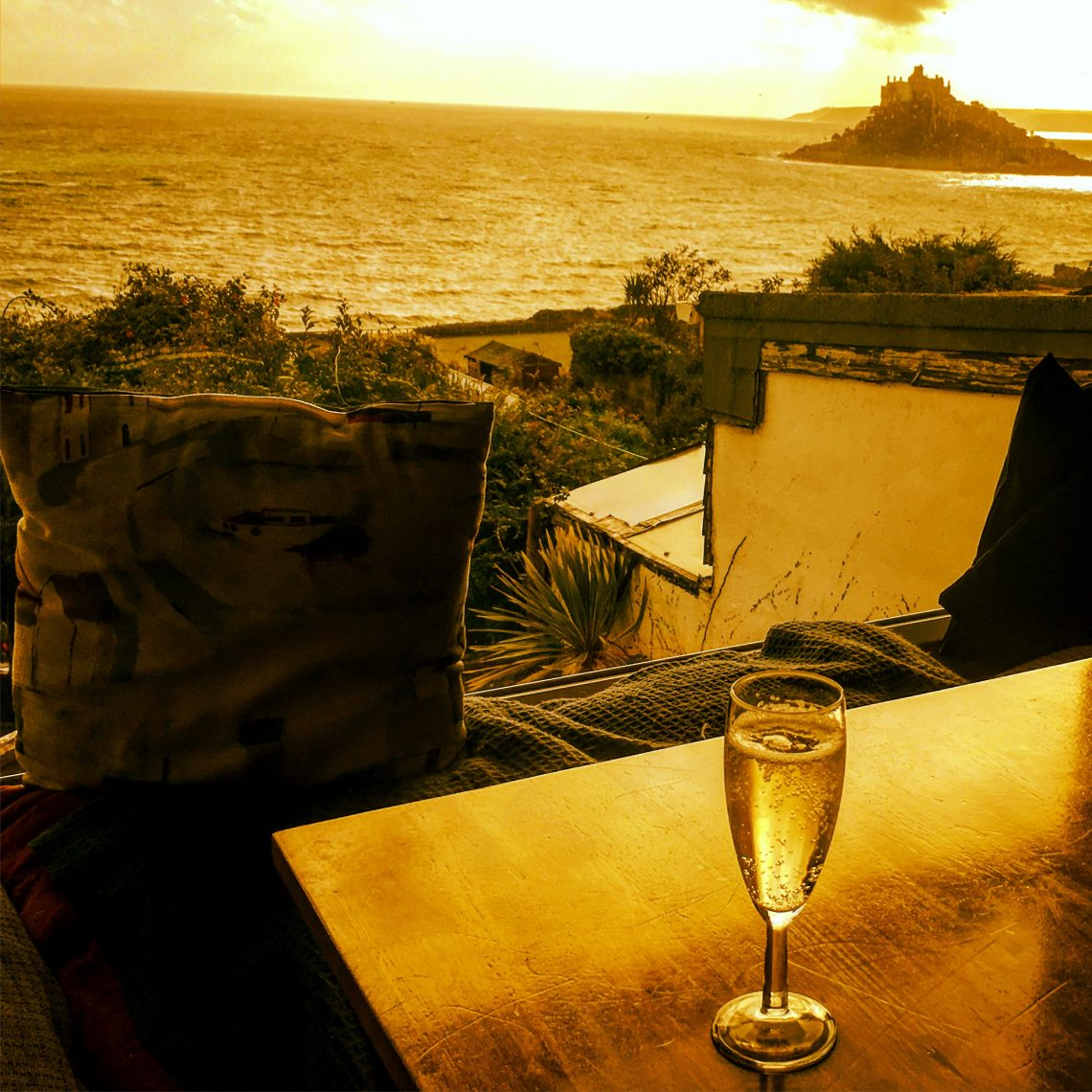 Prosecco o'clock at St Michael's Mount by KJ Duffield