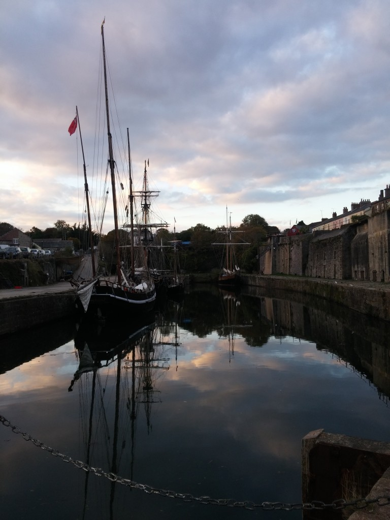 Reflections in the harbour at Charlestown