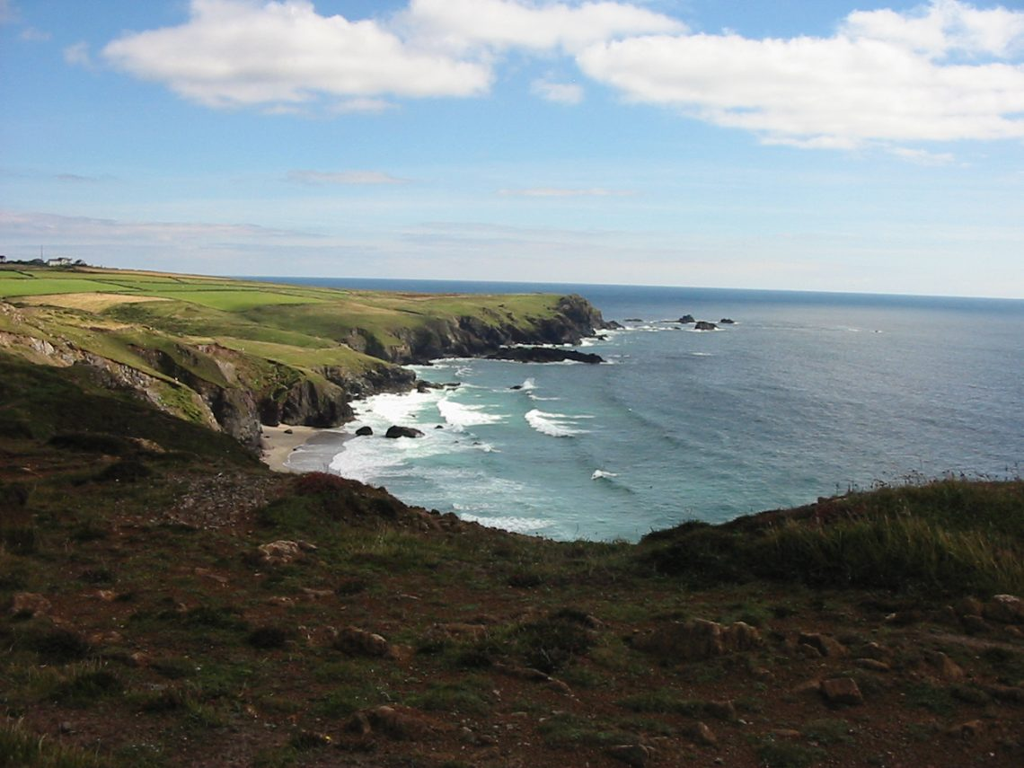 View from coast path at Kynance Cove Cornwall