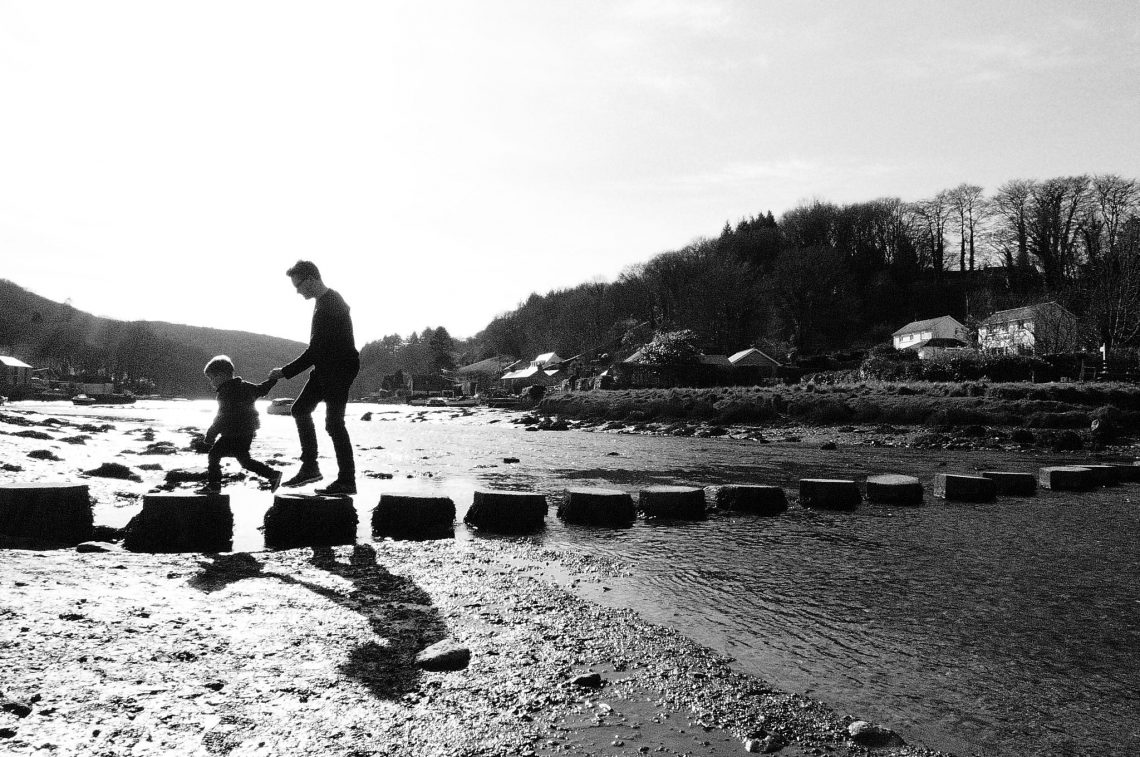 Stepping Stones at Lerryn Cornwall