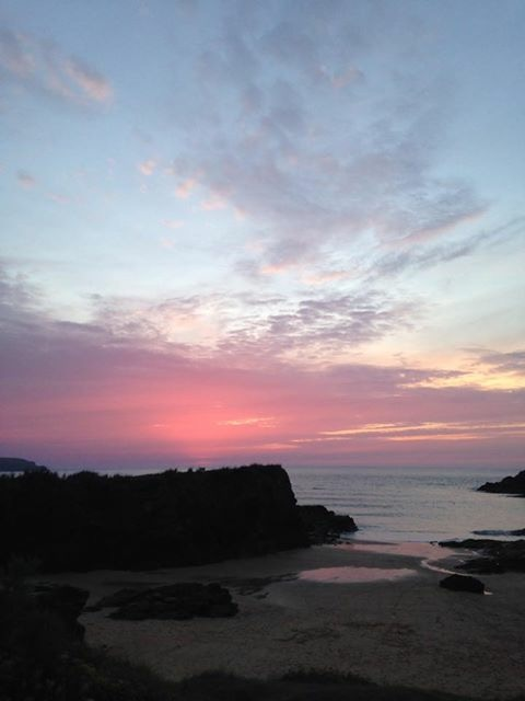 Sunset at Trevone Bay, Cornwall