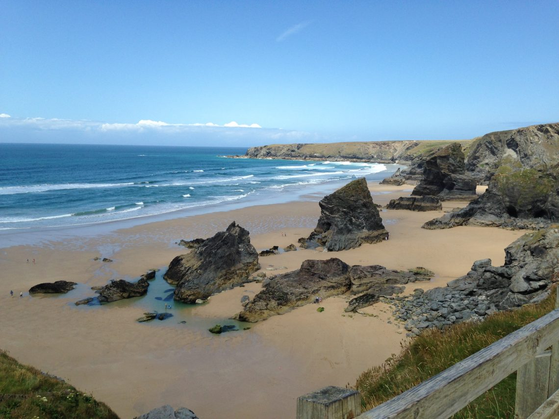 Bedruthan Steps Beach in Cornwall