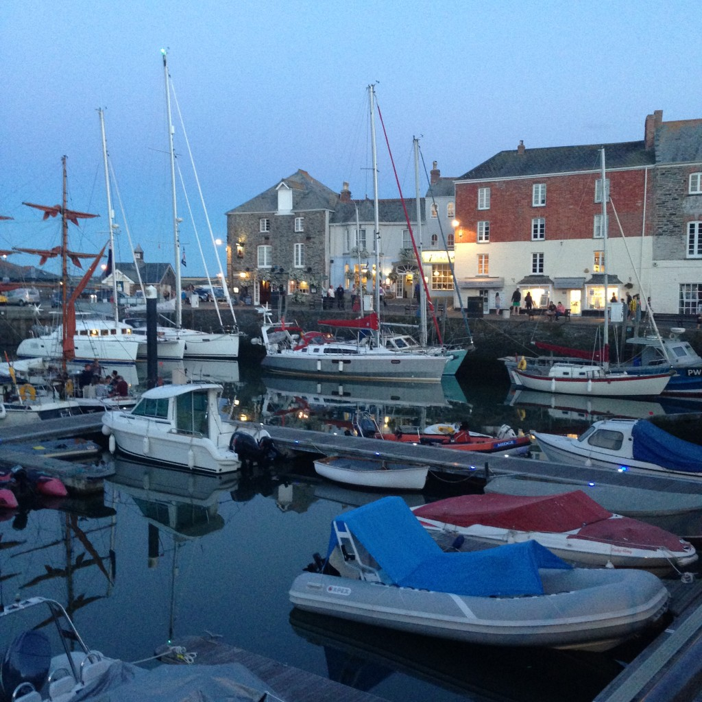 Padstow Harbour at night, Cornwall