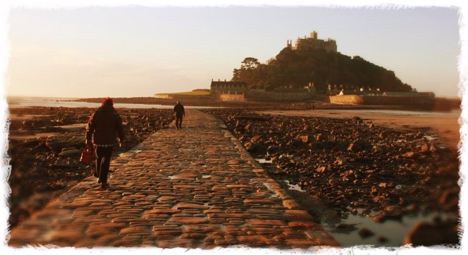 Walkway to St Michael's Mount Cornwall