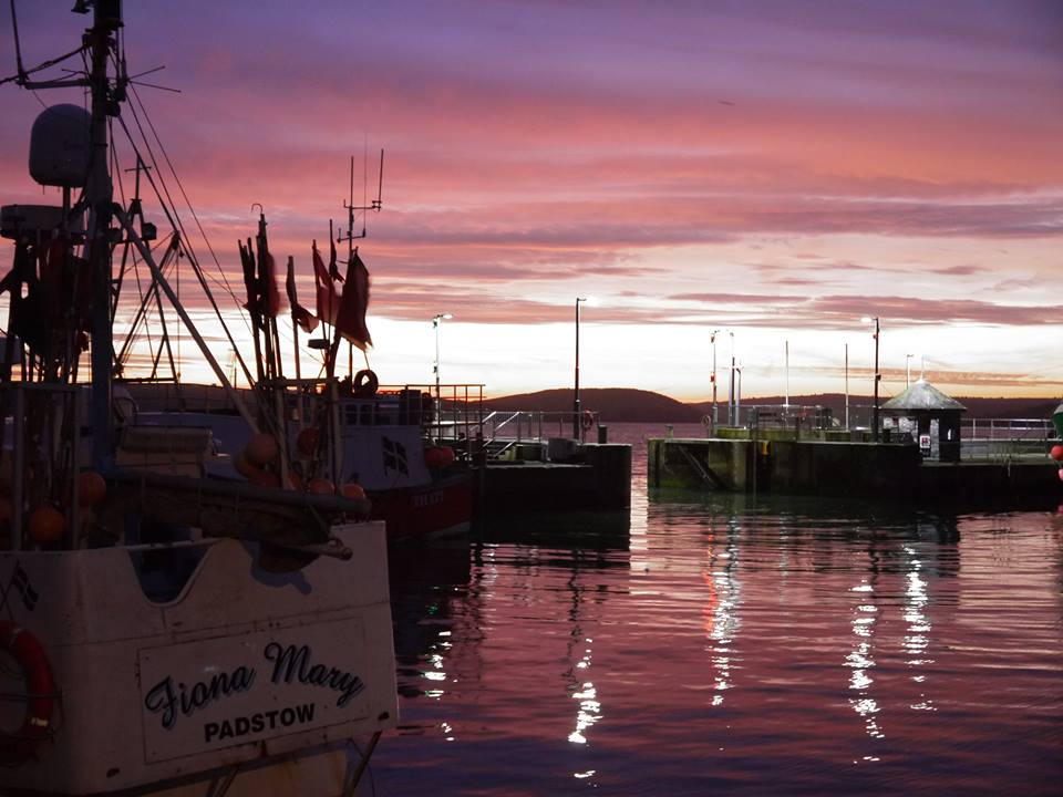 Sunrise in Padstow Harbour Cornwall